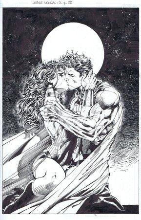 Thumb superman wonder woman the kiss by inkist d5cyl7u