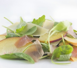 Web_listing_peach_and_prosciutto_salad_square_cropped_(600x531)