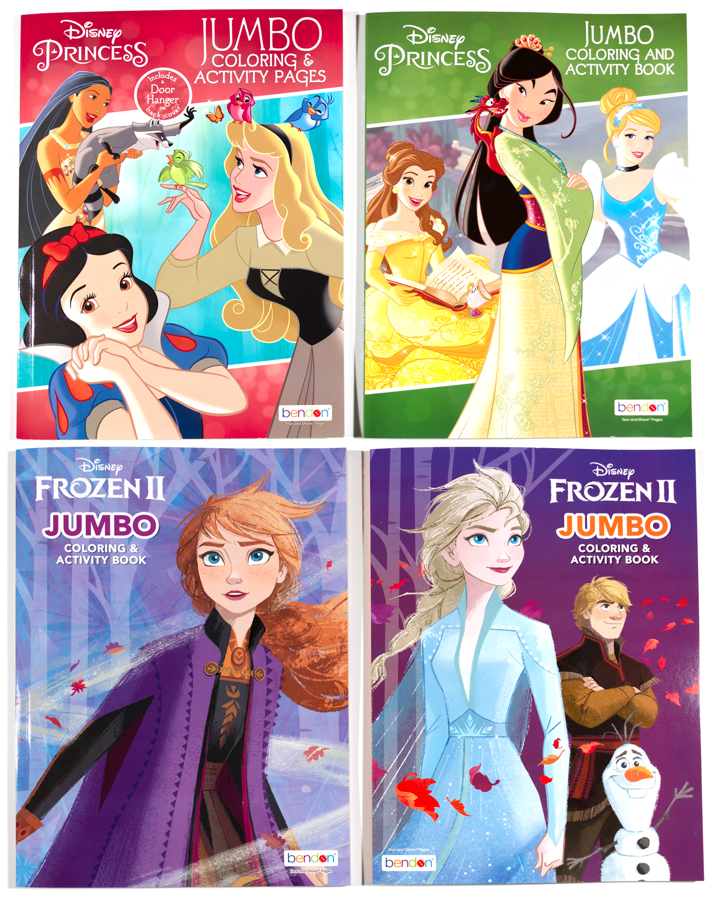 4 Brand New Frozen II / Disney Princess - Jumbo Coloring ...