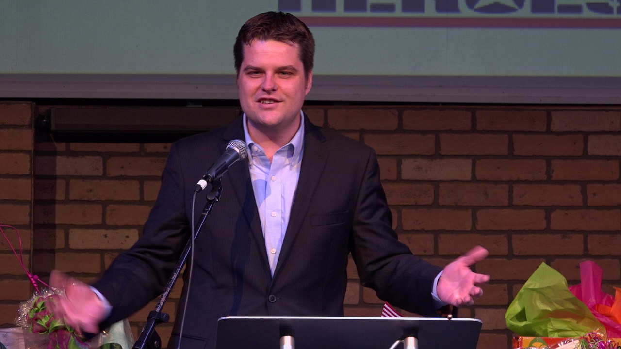 Florida Representation Matt Gaetz at Fort Walton Beach Chamber breakfast