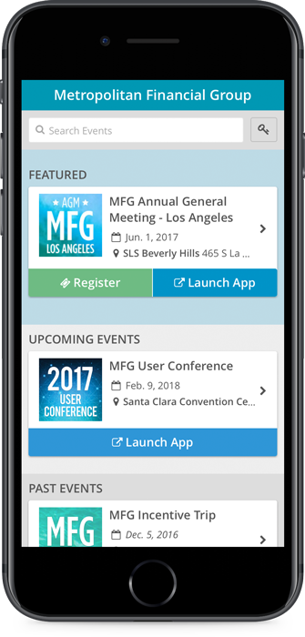 Multi-Event App Screenshot