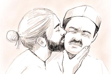 Kissing Carlos