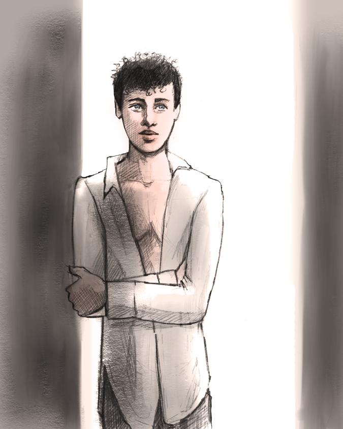 Elan at doorway