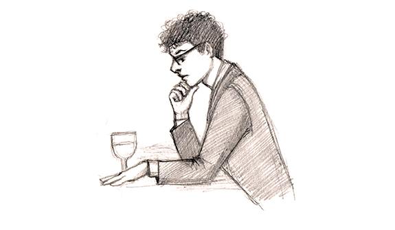 Elan at dinner