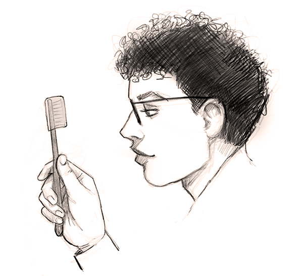 Elan and his toothbrush