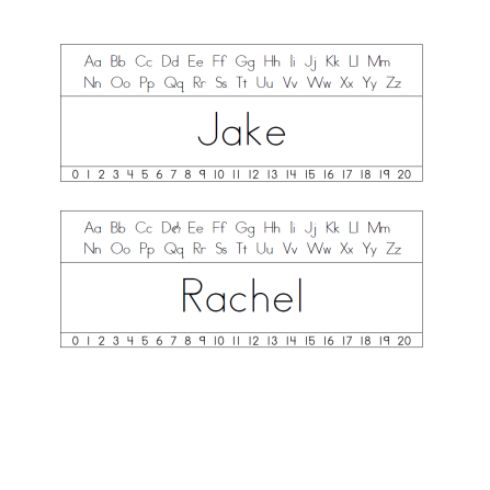 table name plates template