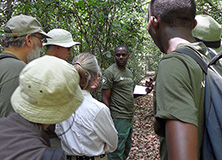 Dr. Fred Babweteera with Earthwatch volunteers
