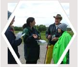 Volunteers preparing to visit the penguin colony