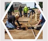 Earthwatch volunteers have helped to excavate Roman jewelry, armor, and ceramics