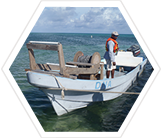 Research boat, Belize
