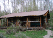 Cabin accommodation in the Rockies, Wyoming, USA