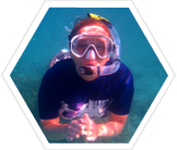 Volunteer snorkeling in the Seychelles