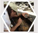 Earthwatch paleontologist, Arlington Archosaur Site, Texas, USA