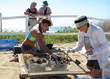 Turtle conservation volunteers, Costa Rica