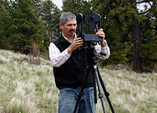 Dr. Josh Viers conducting a habitat survey in Sonoma County, California