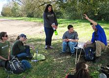 Earthwatch volunteers in the field