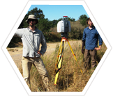 Fieldwork mapping vegetation, California