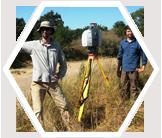 Fieldwork mapping vegetation, California