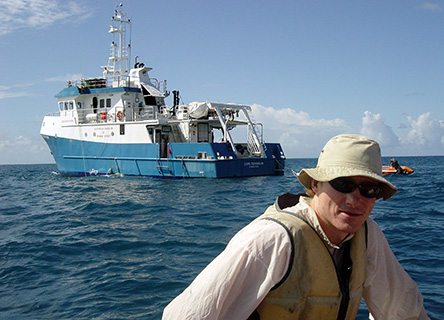 Dr. David Bourne and RV Cape Ferguson