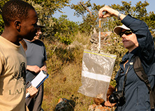 Dr. Russell Hill leading an Earthwatch project in South Africa