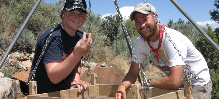 Volunteering on an Earthwatch archaeology dig in Colorado, USA