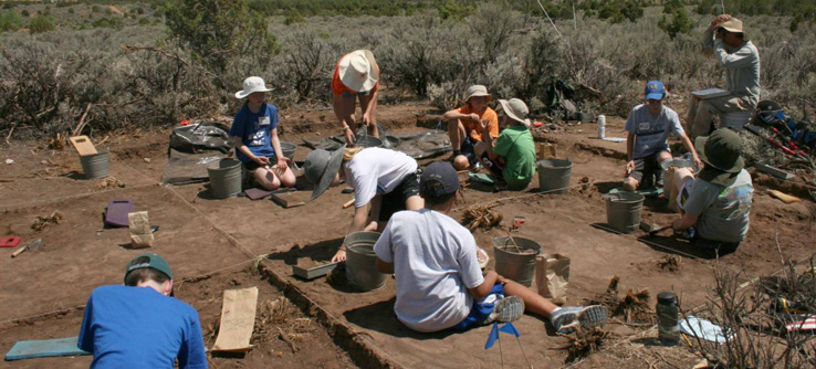 Archaeological fieldwork, Colorado, USA