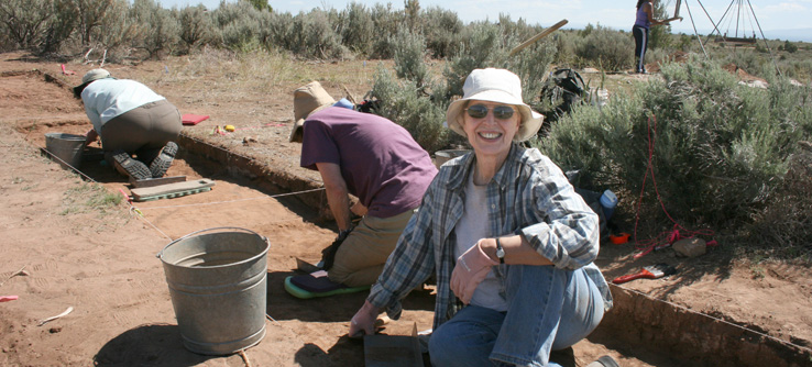 Earthwatch archaeologist on a dig in Colorado