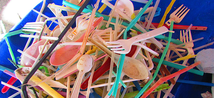Plastic straws and cutlery make up a big part of the plastic problem