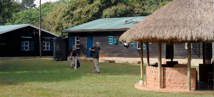 The research camp in Uganda