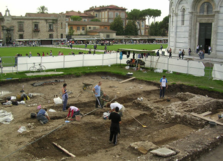 Archaeological dig raises awareness of Pisa and the history of the city.