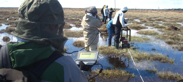 Ground-penetrating radar helps monitor permafrost and the soil above it.