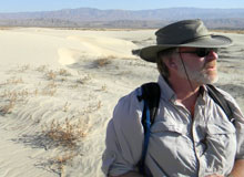 Dr. Barrows in the sand dunes of the Coachella Valley.