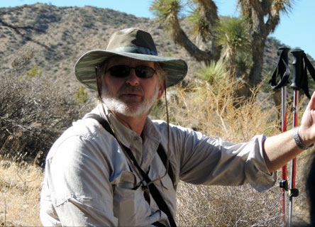 Dr. Cameron Barrows studies the impacts of climate change in the desert.
