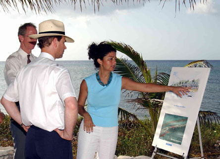 Prince Edward, Earl of Wessex, visits the Central Caribbean Marine Institute