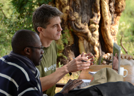Demonstrating leadership: Shell employee working with the director of Marojejy National Park, Madagascar.