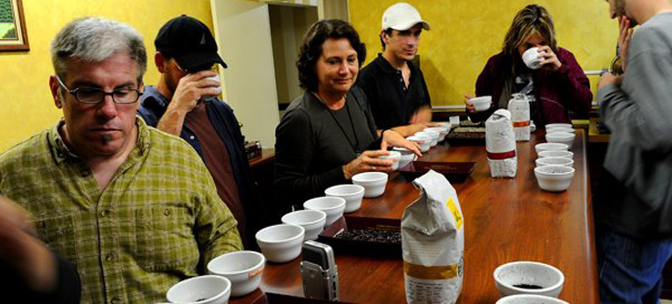 Tasting coffee as it transitions from community to cup.