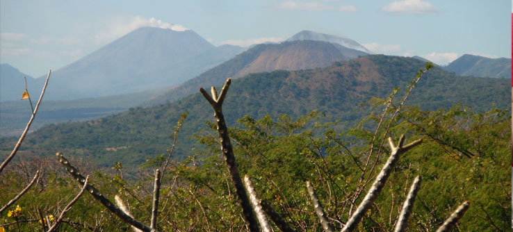 Some of Nicaragua's 28 volcanos, 19 of which are active.
