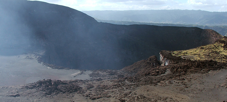 The Masaya Volcano constantly emits gasses that pollute the land.