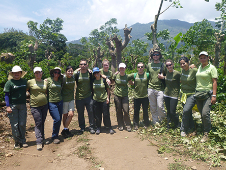 EY ambassadors with field staff at a coffee plantation in Costa Rica