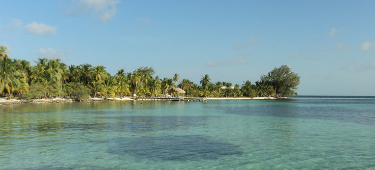 A tropical caye in the beautiful Caribbean ocean, Belize