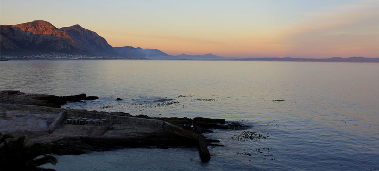 The view from Old Harbour Bay in Hermanus.