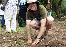 Dr. Mark Huxham in Kenya