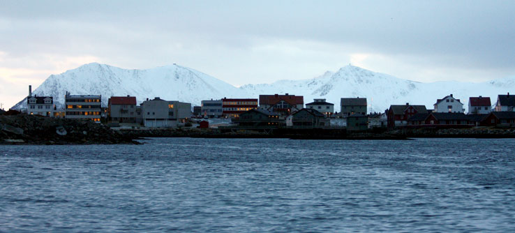 The port town of Andenes, the home base for Earthwatchers.