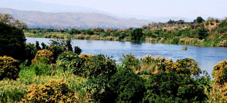 River running through Majete Wildlife Reserve, Malawi
