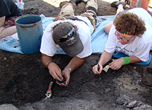 Dr. Derek Main at the Arlington Archosaur Site, Texas, USA