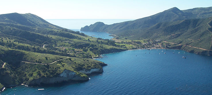 Catalina Island is one of eight Channel Islands off the coast of California.