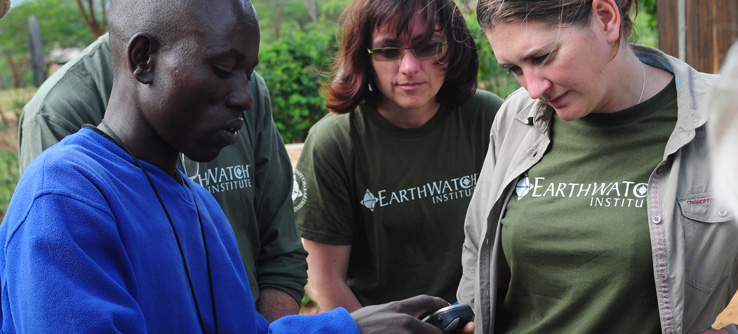 Earthwatch research team in Samburu, Kenya