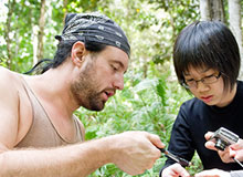 Earthwatch volunteers are trained to measure trees, count and identify lizards or frogs, tag and identify vine species, and more.