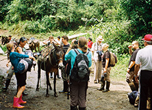 Earthwatch research team in Ecuadorian rainforest