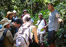 Dr. Reynolds and Earthwatch volunteers in Borneo